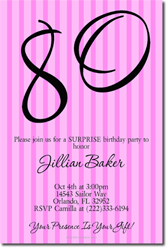 Design online, download jpg immediately DIY 80th birthday party invitations