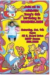 Design online, download jpg immediately DIY alice in wonderland party birthday Invitations