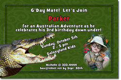 Design online, download jpg immediately DIY alligator birthday Invitations
