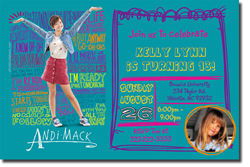 Design online, download jpg immediately DIY andi mack party birthday Invitations