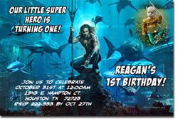 Design online, download jpg immediately DIY aquaman birthday Invitations