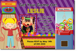 Design online, download jpg immediately DIY arcade party birthday Invitations