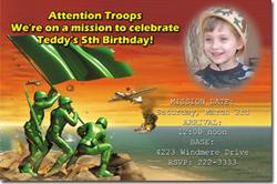 Design online, download jpg immediately DIY army birthday Invitations