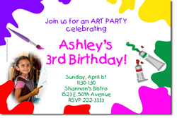 Design online, download jpg immediately DIY art party birthday Invitations