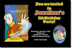Design online, download jpg immediately DIY avatar birthday Invitations