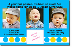 Design online, download jpg immediately DIY photo collage birthday party Invitations