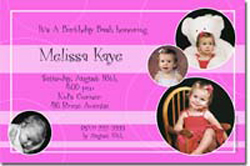 Design online, download jpg immediately DIY photo collage birthday party Invitations