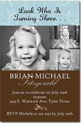 Design online, download jpg immediately DIY photograph birthday party Invitations