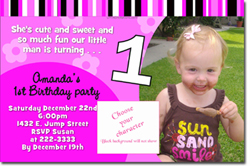 Design online, download jpg immediately DIY party birthday Invitations