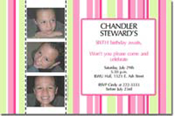 Design online, download jpg immediately DIY photo card birthday party Invitations