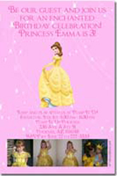 Design online, download jpg immediately DIY belle beauty and the beast party birthday Invitations