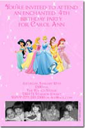 Design online, download jpg immediately DIY princess photo collage birthday party Invitations