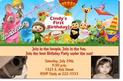 Design online, download jpg immediately DIY babytv birthday Invitations