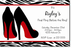 Design online, download jpg immediately DIY bachelorette party invitations
