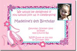 Design online, download jpg immediately DIY ballet shoes party birthday Invitations