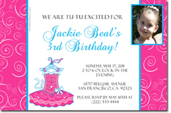 Design online, download jpg immediately DIY ballet party birthday Invitations