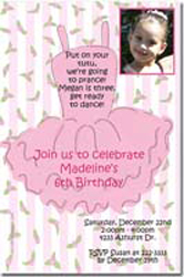 Design online, download jpg immediately DIY ballet tutu party birthday Invitations