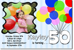 Design online, download jpg immediately DIY balloon birthday party invitations