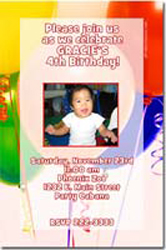 Design online, download jpg immediately DIY balloon birthday Invitations