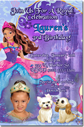 Design online, download jpg immediately DIY barbie diamond party birthday Invitations