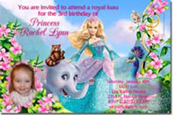 Design online, download jpg immediately DIY barbie Island Princess party birthday Invitations