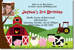 Design online, download jpg immediately DIY farm birthday Invitations