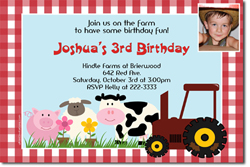 Design online, download jpg immediately DIY barnyard birthday Invitations
