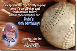 Design online, download jpg immediately DIY baseball birthday Invitations