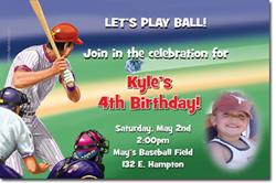 Design online, download jpg immediately DIY baseball party birthday Invitations