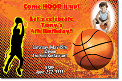 Design online, download jpg immediately DIY basketball party birthday invitations