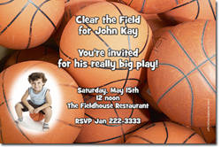 Design online, download jpg immediately DIY basketball birthday Invitations