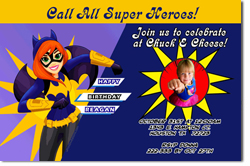 Design online, download jpg immediately DIY Batgirl party birthday Invitations