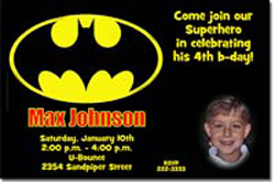 Design online, download jpg immediately DIY batman birthday Invitations