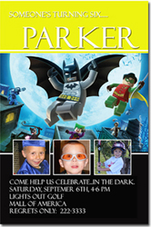 Design online, download jpg immediately DIY batman lego birthday Invitations