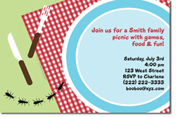 Design online, download jpg immediately DIY bbq picnic party invitations