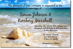 Design online, download jpg immediately DIY beach wedding invitations