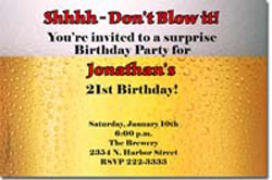 Design online, download jpg immediately DIY beer birthday party invitations