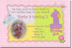 Design online, download jpg immediately DIY birthday girl party birthday Invitations