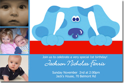 Design online, download jpg immediately DIY blues clues party birthday Invitations