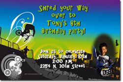 Design online, download jpg immediately DIY bmx birthday Invitations