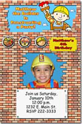 Design online, download jpg immediately DIY bob the builder birthday Invitations