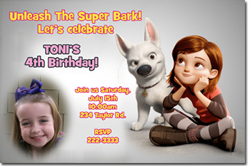 Design online, download jpg immediately DIY bolt party birthday Invitations