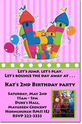 Design online, download jpg immediately DIY bounce house party birthday Invitations