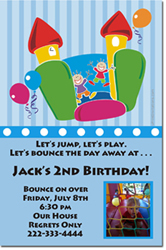Design online, download jpg immediately DIY bounce house birthday Invitations