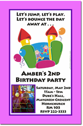 Design online, download jpg immediately DIY moon walk party birthday Invitations