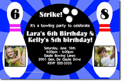 Design online, download jpg immediately DIY bowling birthday Invitations