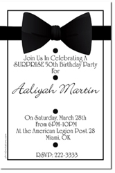 Design online, download jpg immediately DIY black bowtie formal party invitations