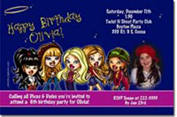 Design online, download jpg immediately DIY bratz diva party birthday Invitations
