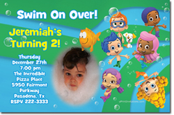 Design online, download jpg immediately DIY bubble guppies party birthday Invitations
