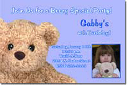 Design online, download jpg immediately DIY build A Bear Party birthday Invitations